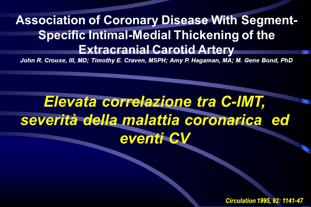 Association of Coronary Disease With Segment-Specific Intimal-Medial Thickening of the Extracranial Carotid Artery