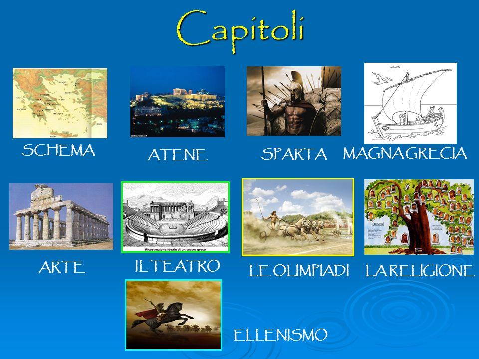 Capitoli SCHEMA ATENE SPARTA MAGNA GRECIA ARTE IL TEATRO LE OLIMPIADI