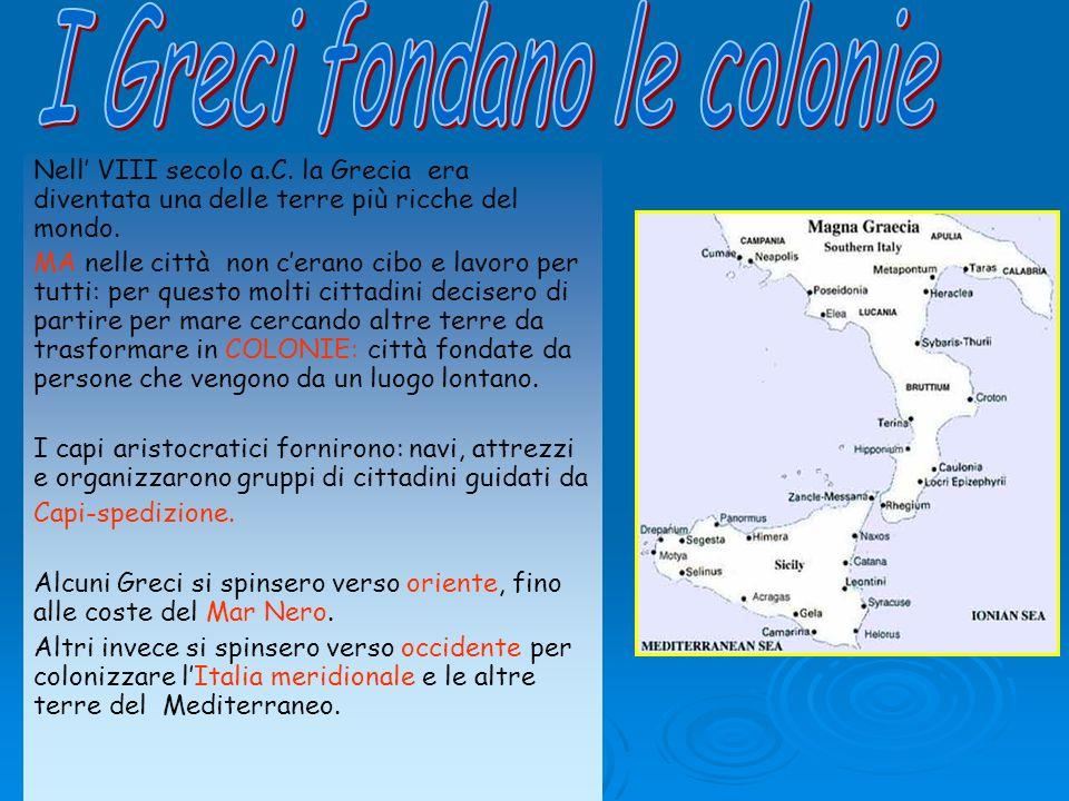 I Greci fondano le colonie