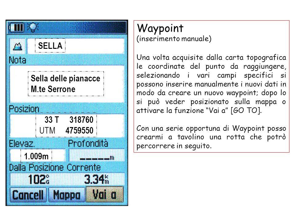 Waypoint SELLA Sella delle pianacce M.te Serrone 33 T 318760