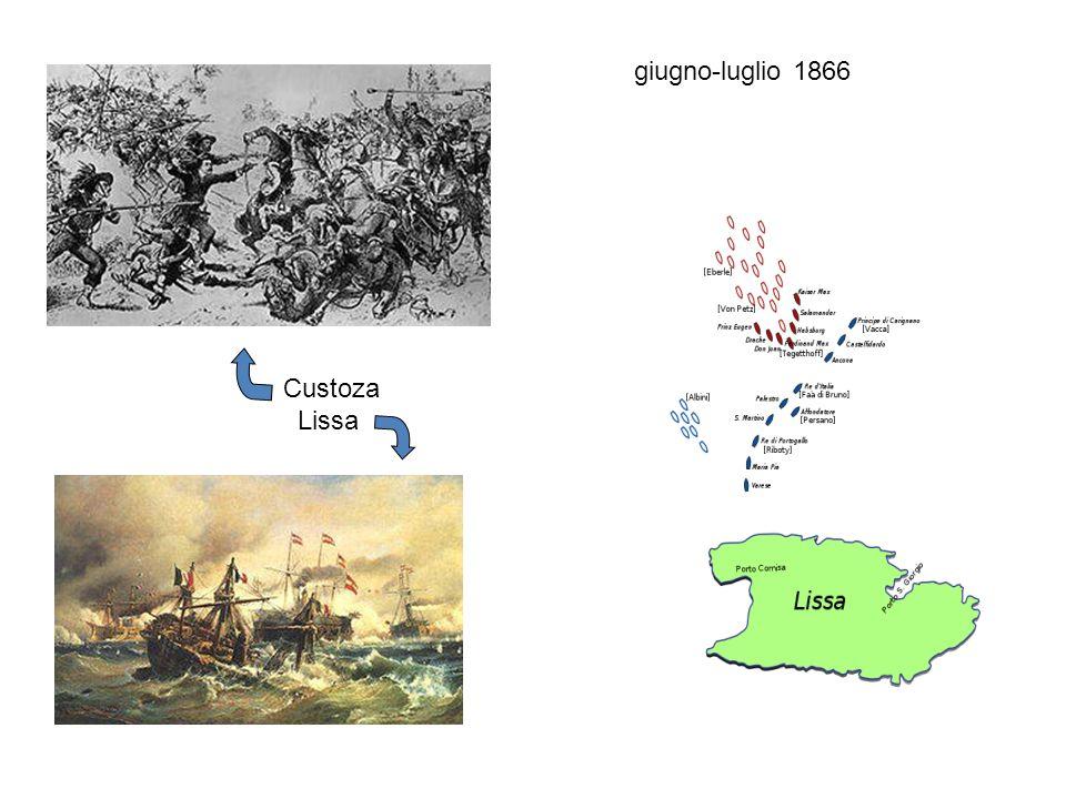 giugno-luglio 1866 Custoza Lissa