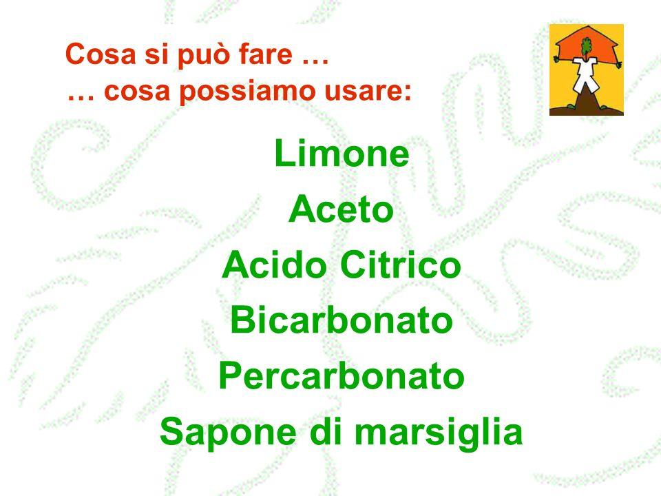 Limone Aceto Acido Citrico Bicarbonato Percarbonato