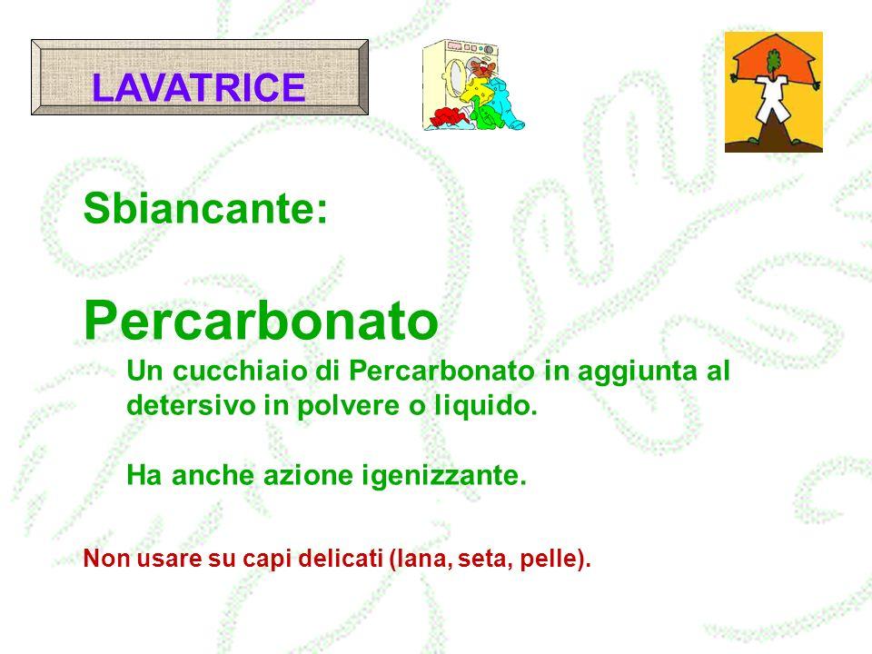 Percarbonato Sbiancante: LAVATRICE