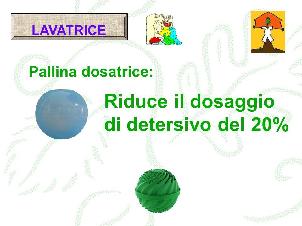 LAVATRICE Pallina dosatrice: Riduce il dosaggio di detersivo del 20%
