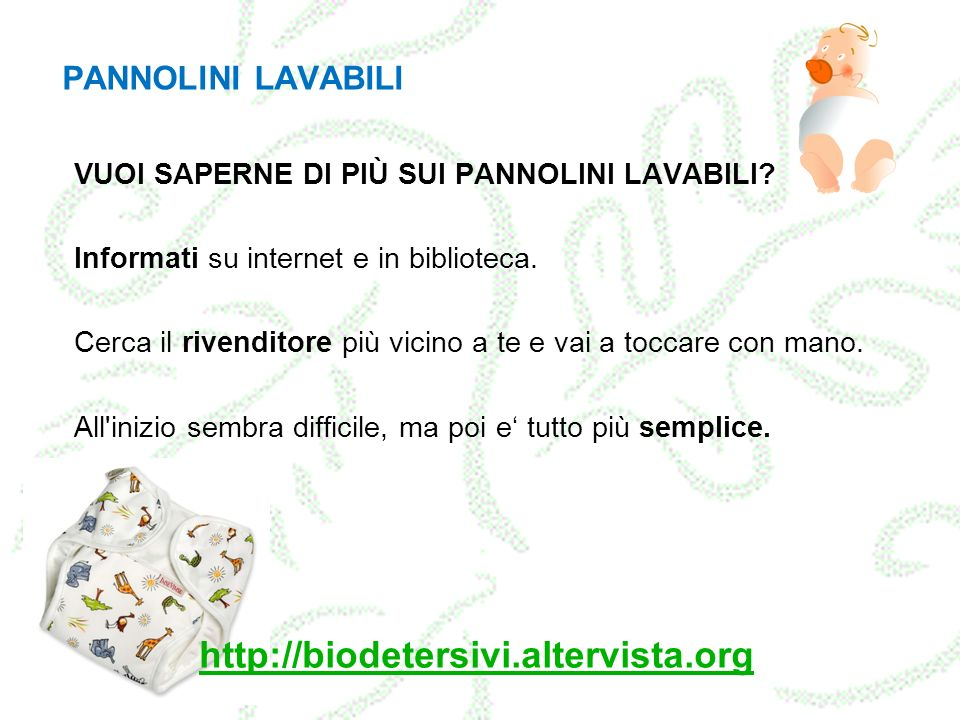 http://biodetersivi.altervista.org PANNOLINI LAVABILI