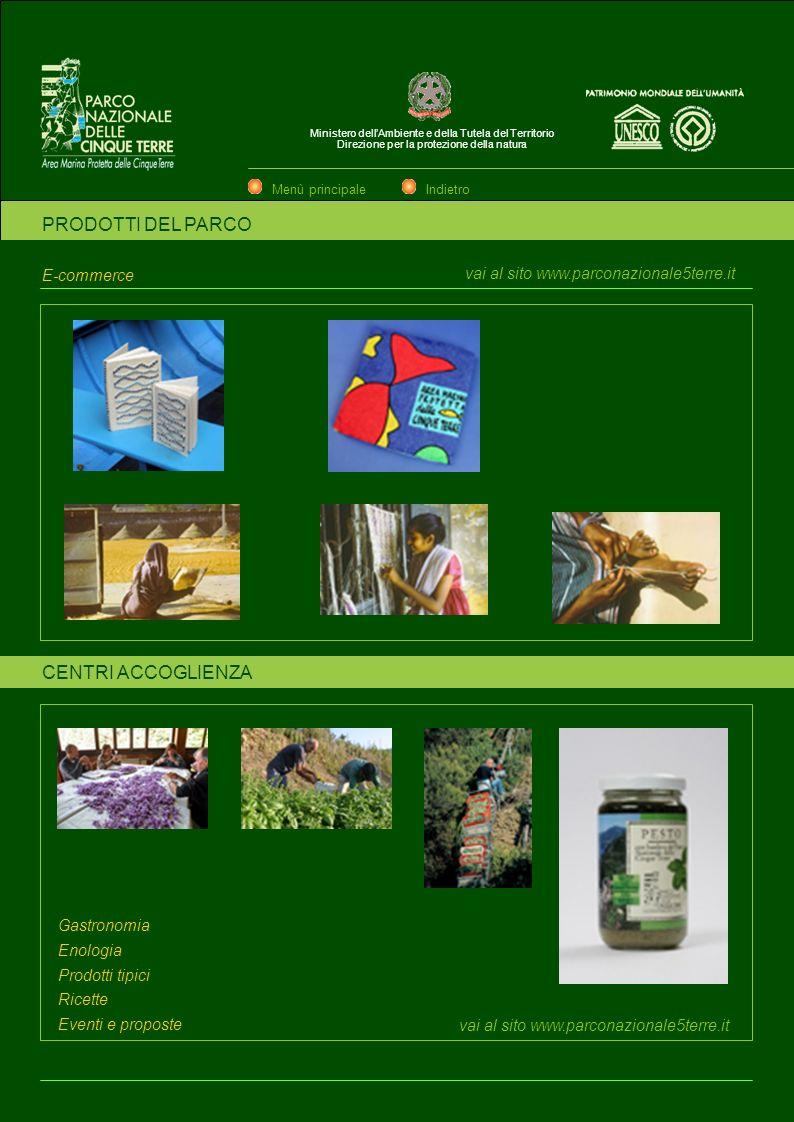 PRODOTTI DEL PARCO CENTRI ACCOGLIENZA E-commerce