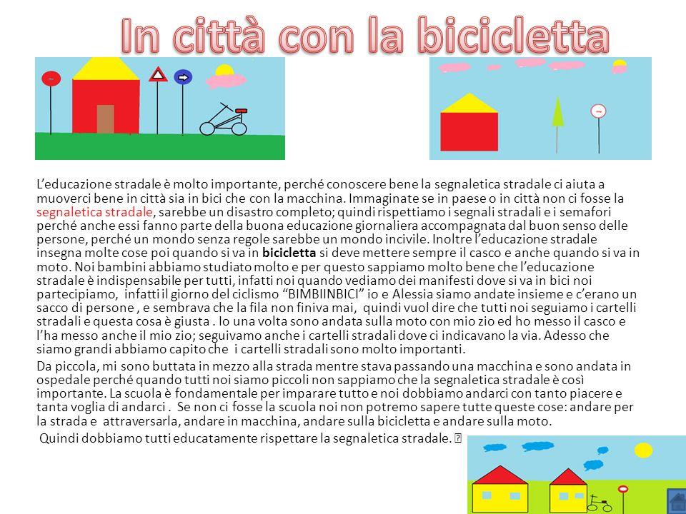 In città con la bicicletta