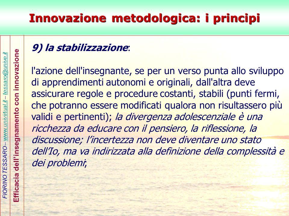 Innovazione metodologica: i principi
