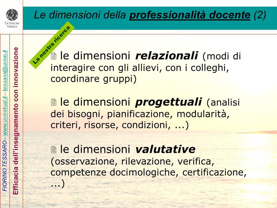 Le dimensioni della professionalità docente (2)