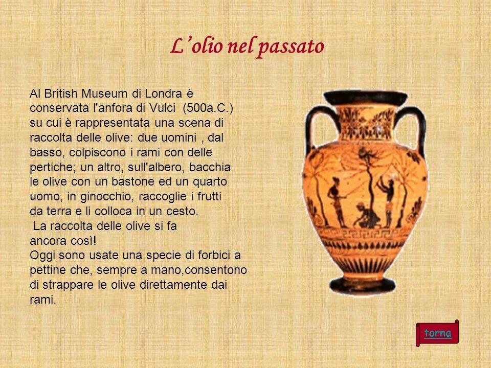 L'olio nel passato Al British Museum di Londra è