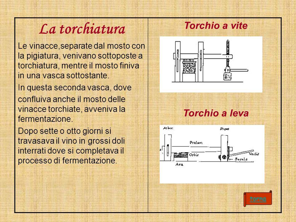 La torchiatura Torchio a vite