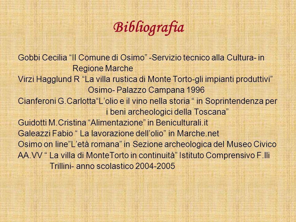 Bibliografia Gobbi Cecilia Il Comune di Osimo -Servizio tecnico alla Cultura- in. Regione Marche.