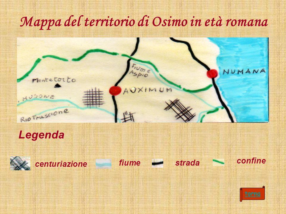 Mappa del territorio di Osimo in età romana