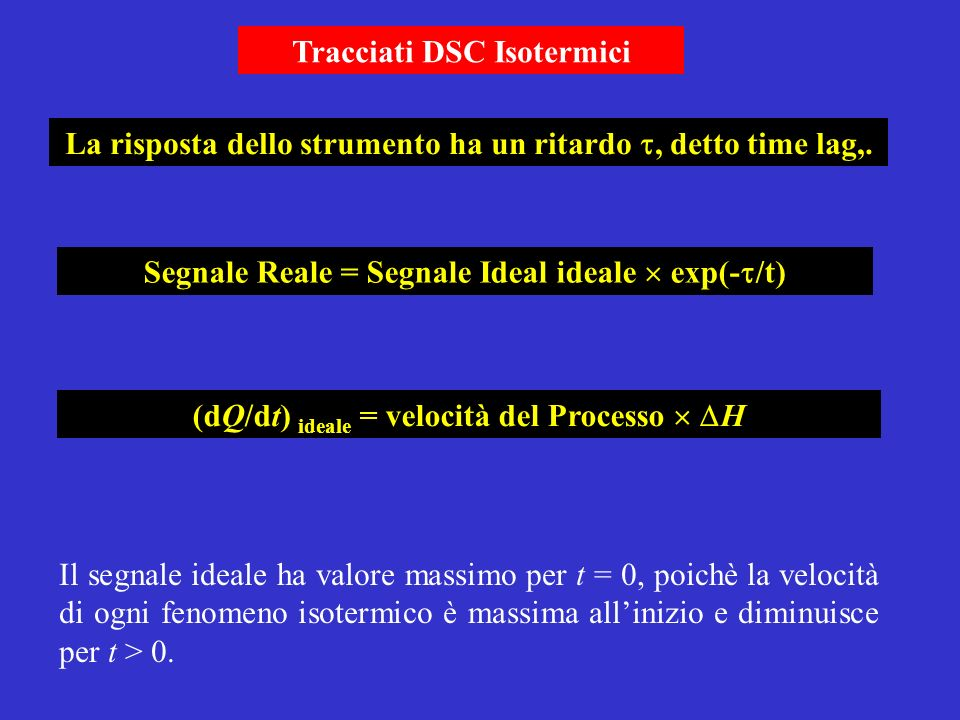 Tracciati DSC Isotermici