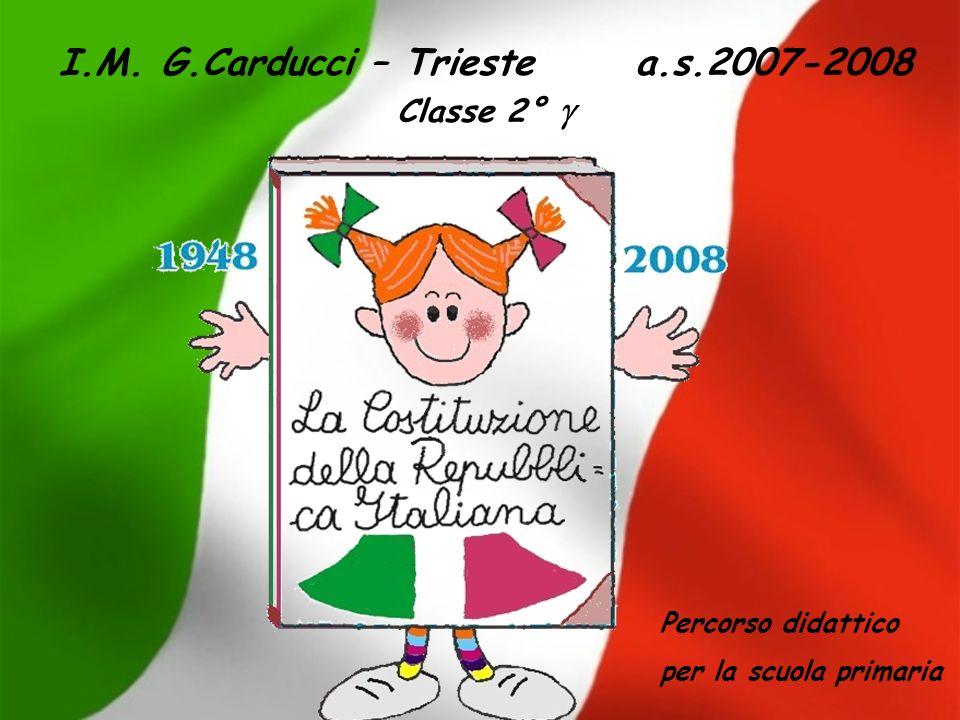 I.M. G.Carducci – Trieste a.s.2007-2008 Classe 2° g