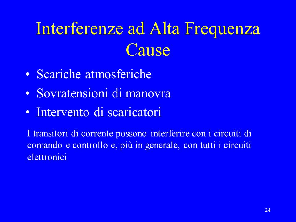 Interferenze ad Alta Frequenza Cause