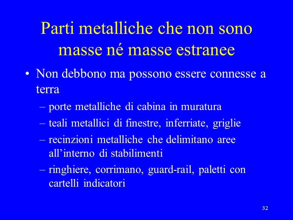 Parti metalliche che non sono masse né masse estranee
