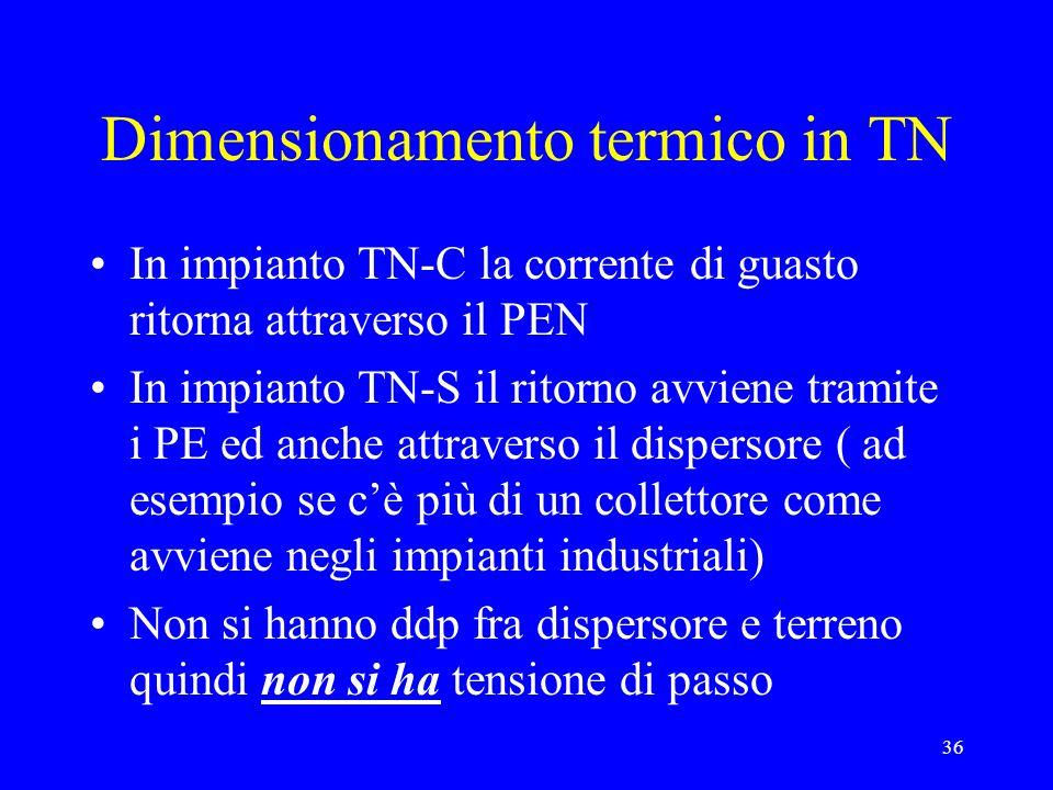 Dimensionamento termico in TN