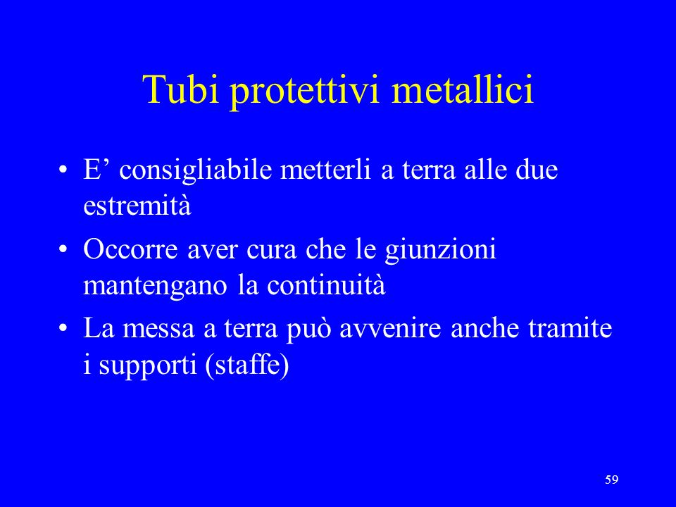 Tubi protettivi metallici