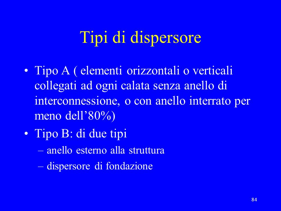 Tipi di dispersore