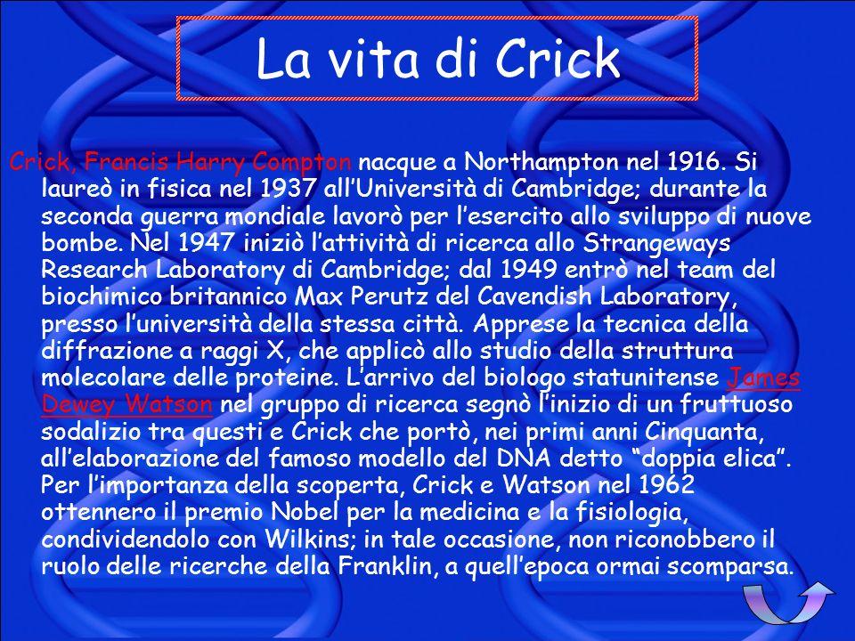 La vita di Crick
