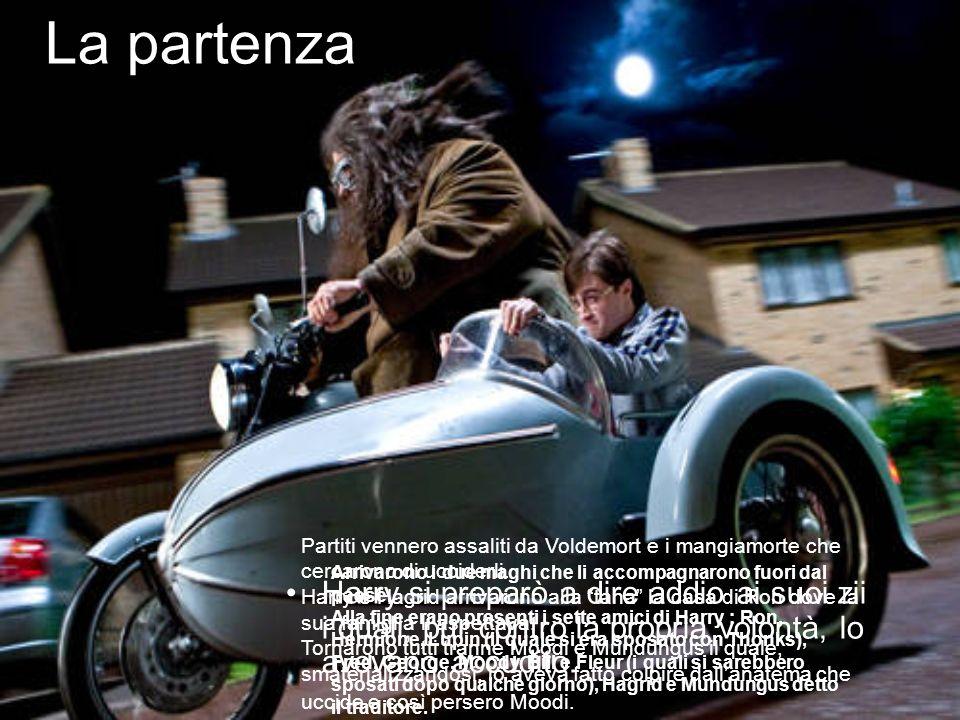 La partenza Partiti vennero assaliti da Voldemort e i mangiamorte che cercarono di ucciderli.