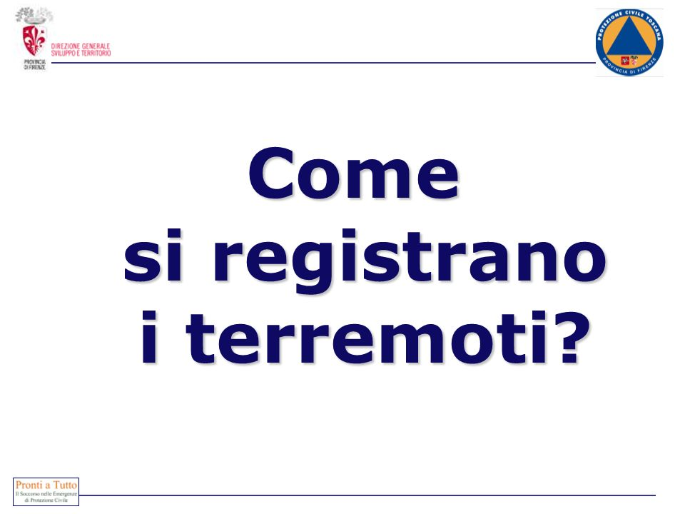 Come si registrano i terremoti