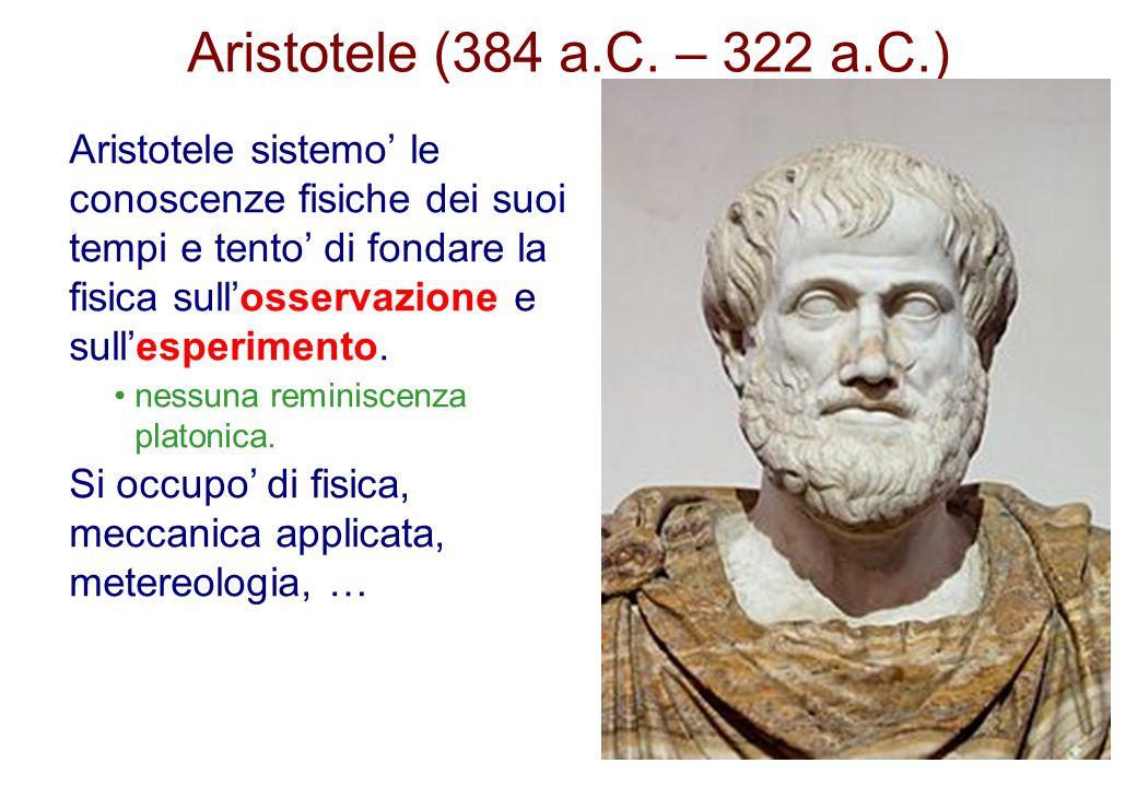 Aristotele (384 a.C. – 322 a.C.)