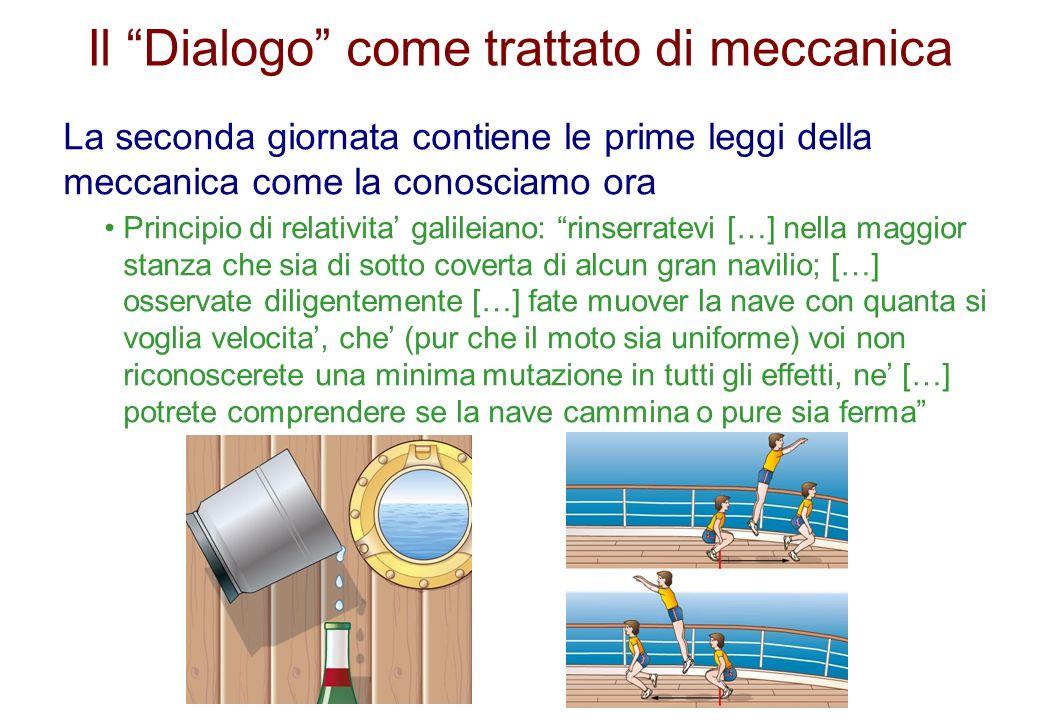 Il Dialogo come trattato di meccanica
