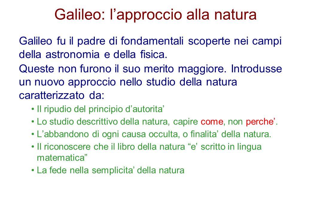 Galileo: l'approccio alla natura