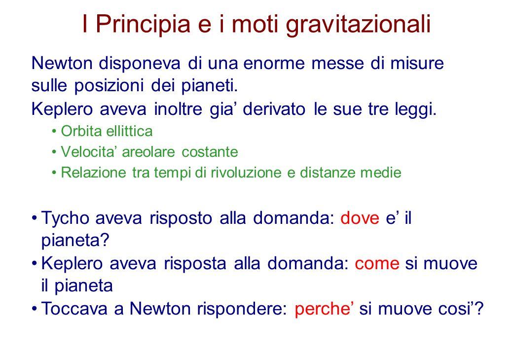 I Principia e i moti gravitazionali