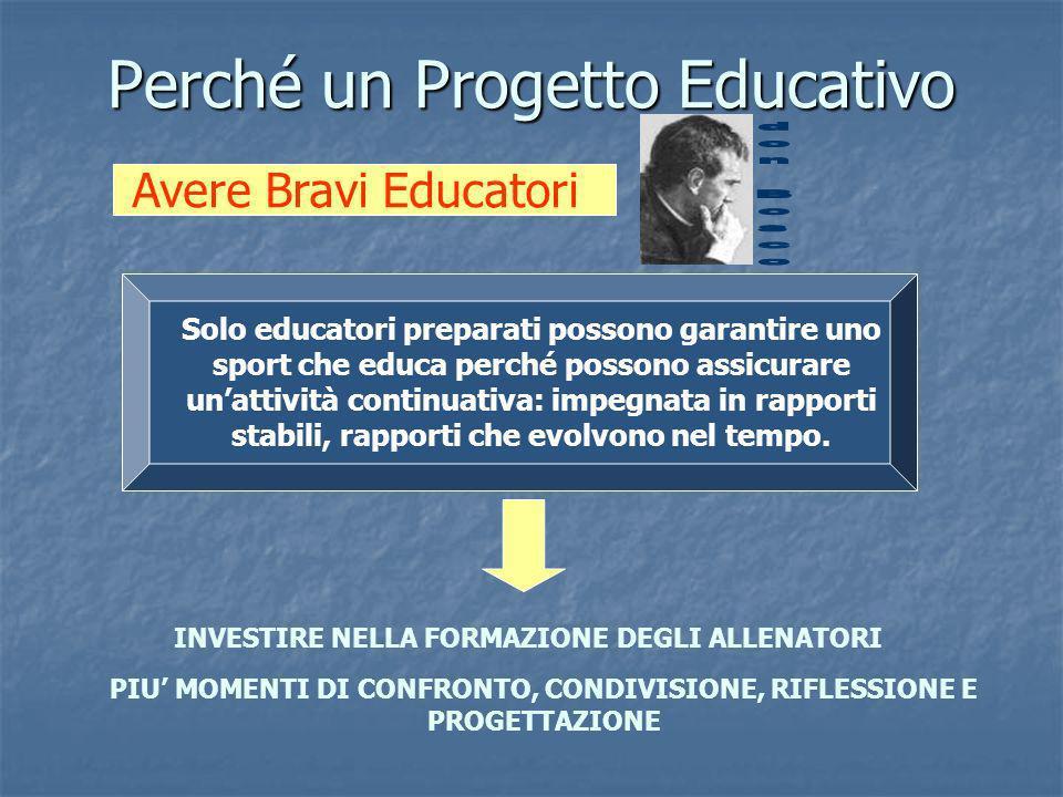 Perché un Progetto Educativo