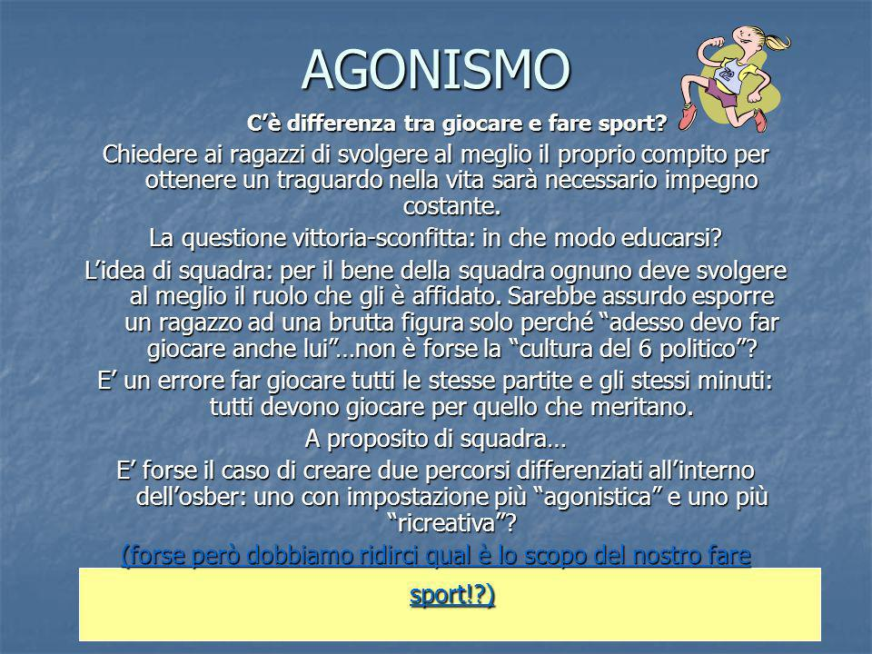 C'è differenza tra giocare e fare sport