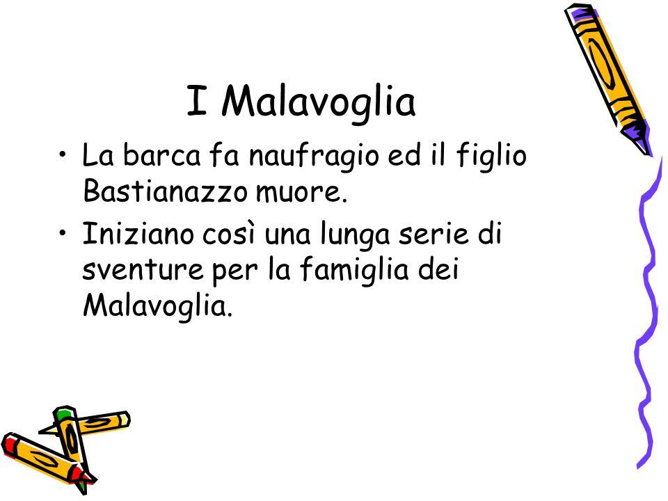 I Malavoglia La barca fa naufragio ed il figlio Bastianazzo muore.