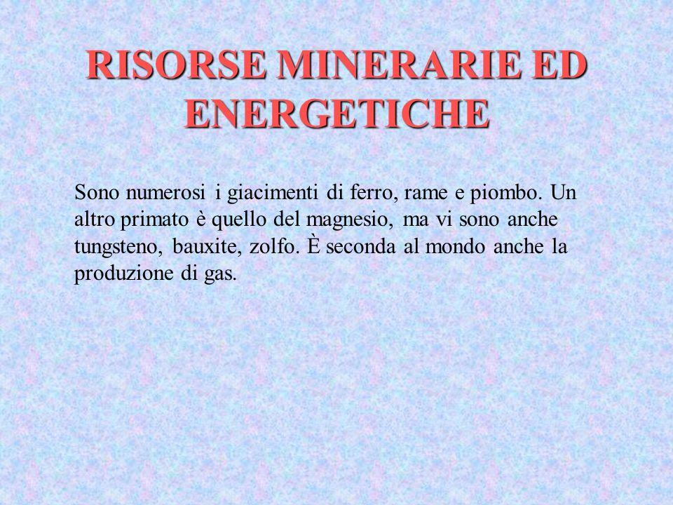 RISORSE MINERARIE ED ENERGETICHE