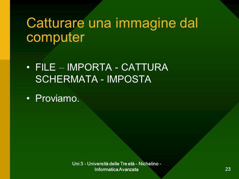 Catturare una immagine dal computer