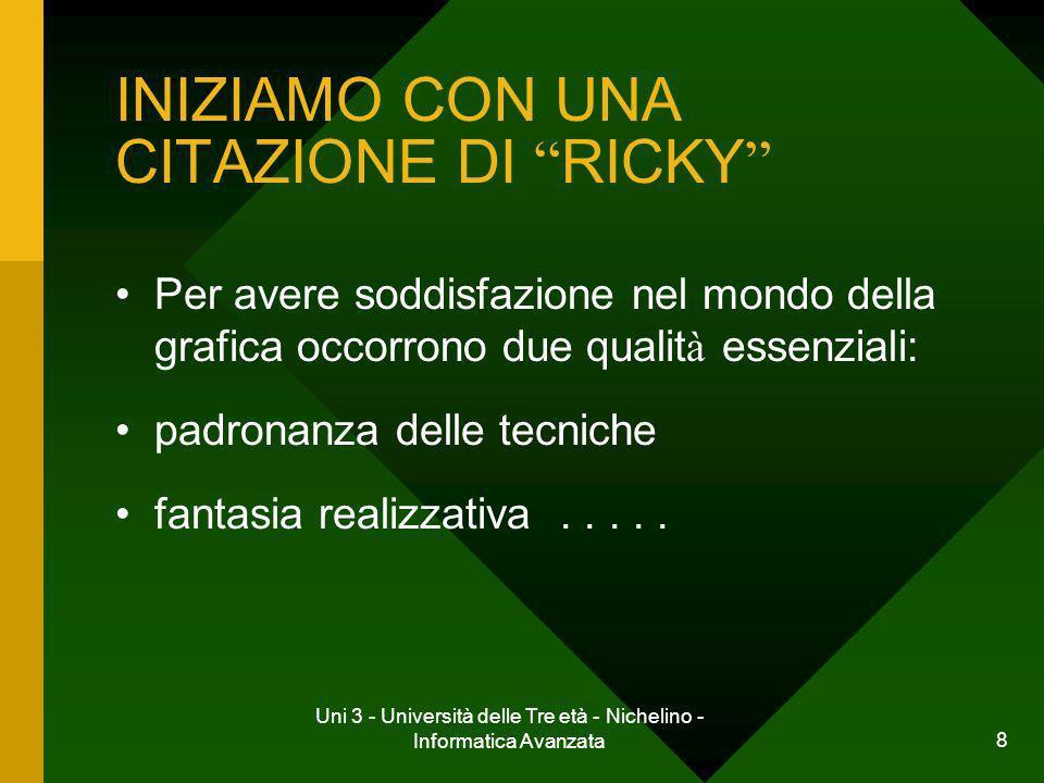 INIZIAMO CON UNA CITAZIONE DI RICKY