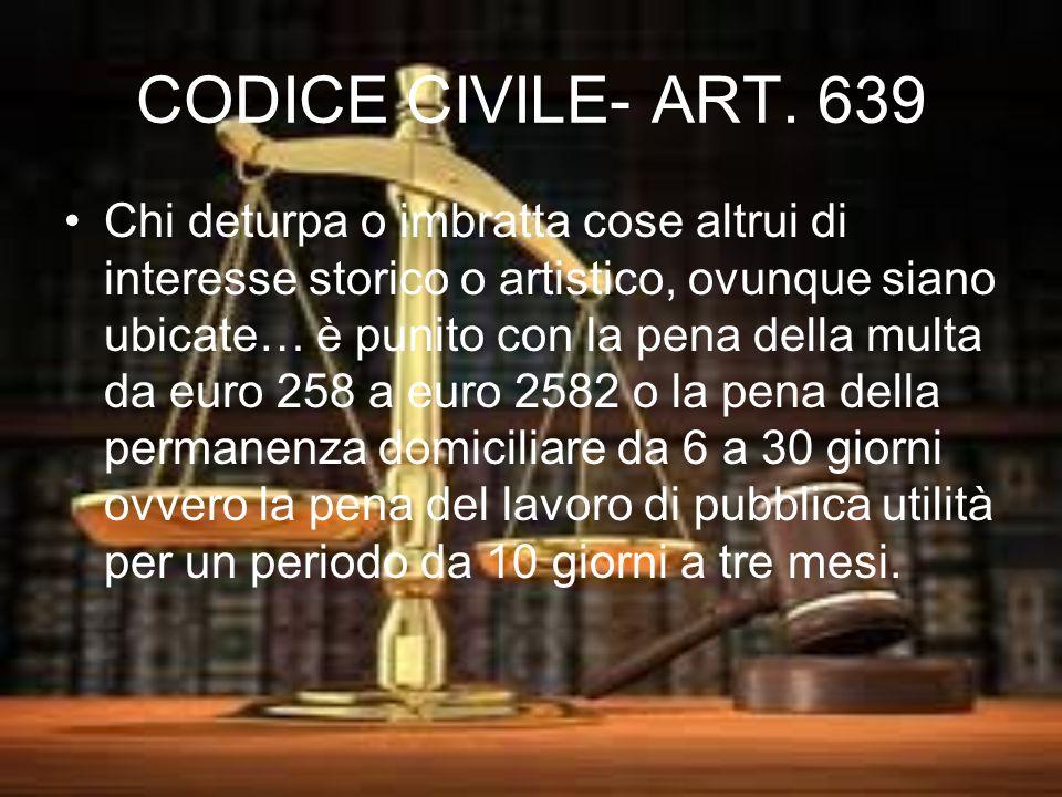 CODICE CIVILE- ART. 639