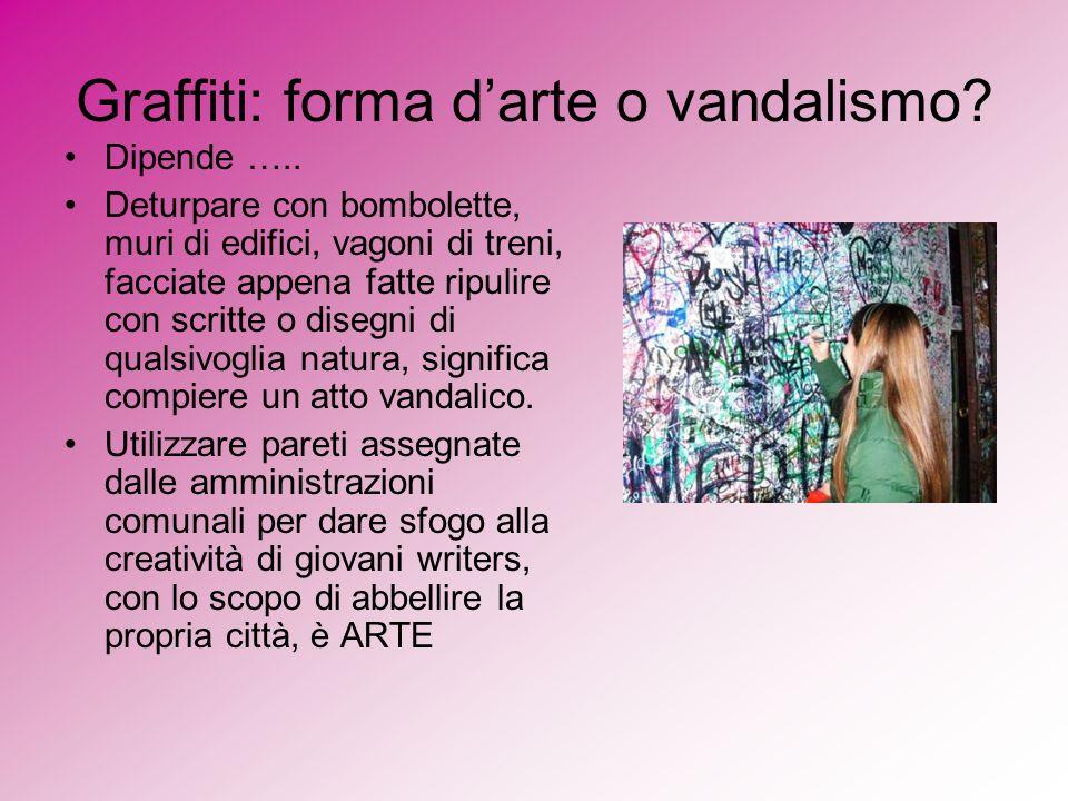 Graffiti: forma d'arte o vandalismo