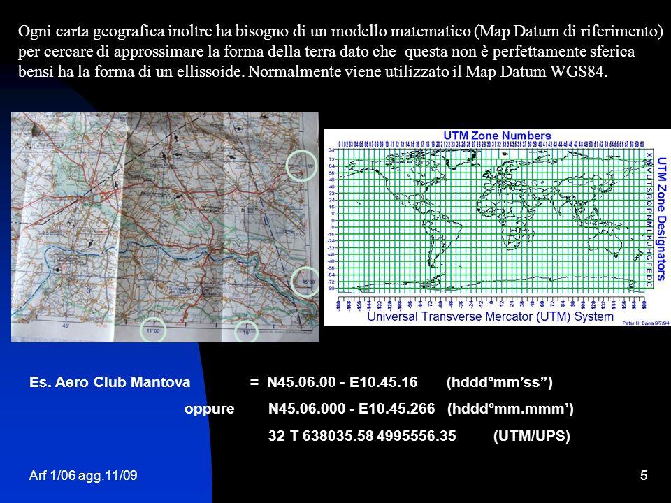 Ogni carta geografica inoltre ha bisogno di un modello matematico (Map Datum di riferimento) per cercare di approssimare la forma della terra dato che questa non è perfettamente sferica bensì ha la forma di un ellissoide. Normalmente viene utilizzato il Map Datum WGS84.
