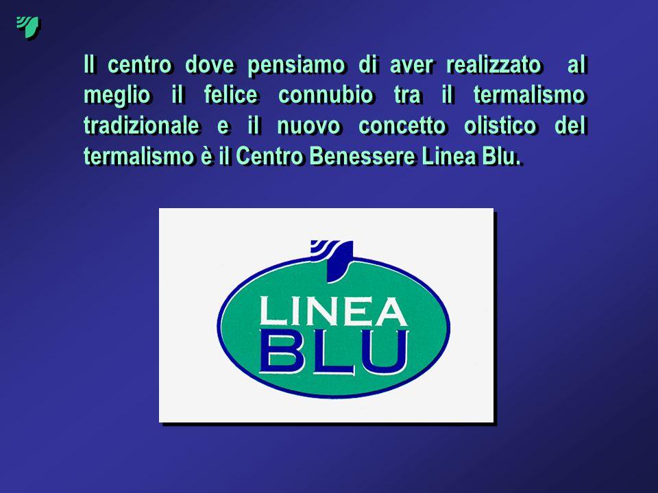 Il centro dove pensiamo di aver realizzato al meglio il felice connubio tra il termalismo tradizionale e il nuovo concetto olistico del termalismo è il Centro Benessere Linea Blu.