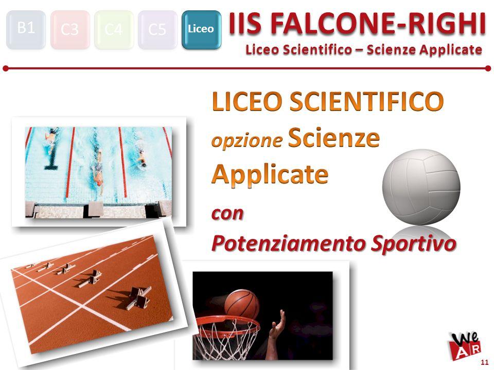 LICEO SCIENTIFICO opzione Scienze Applicate con Potenziamento Sportivo