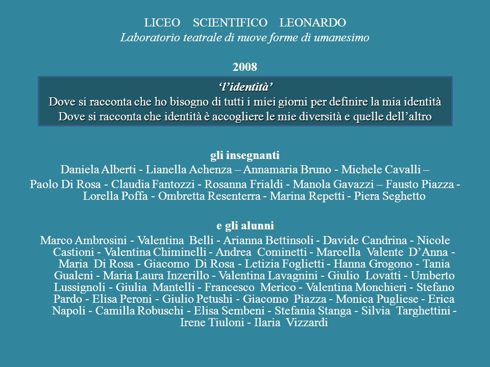 LICEO SCIENTIFICO LEONARDO