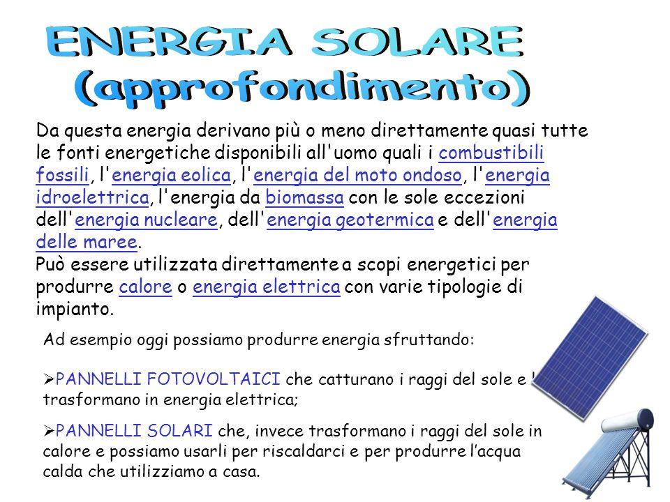 ENERGIA SOLARE (approfondimento)