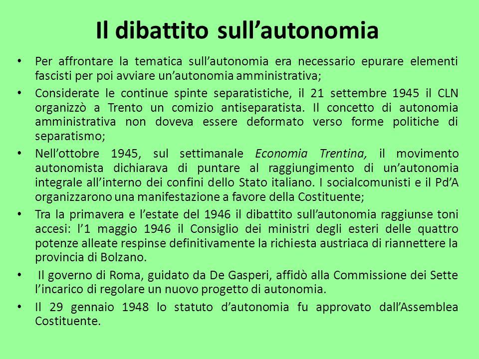 Il dibattito sull'autonomia