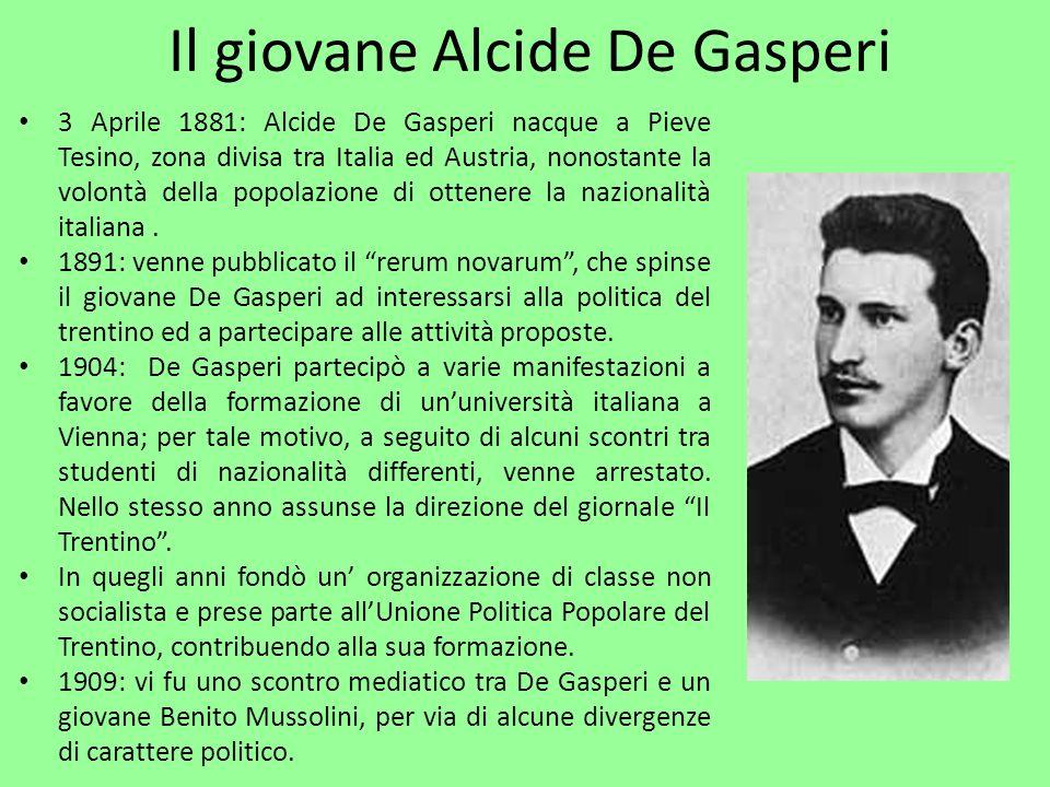 Il giovane Alcide De Gasperi