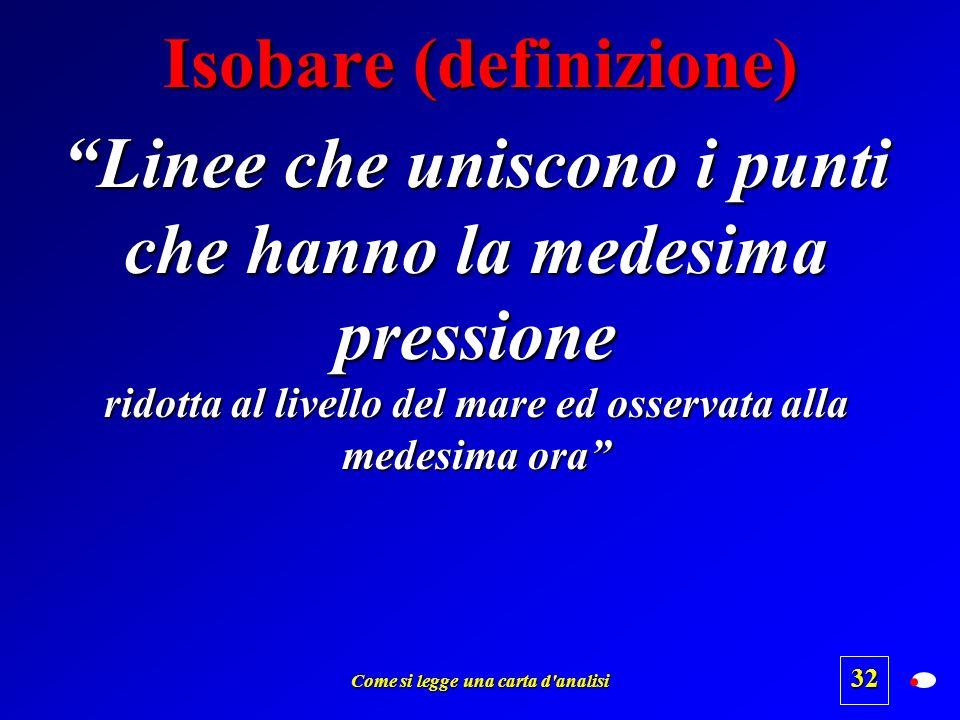 Isobare (definizione)
