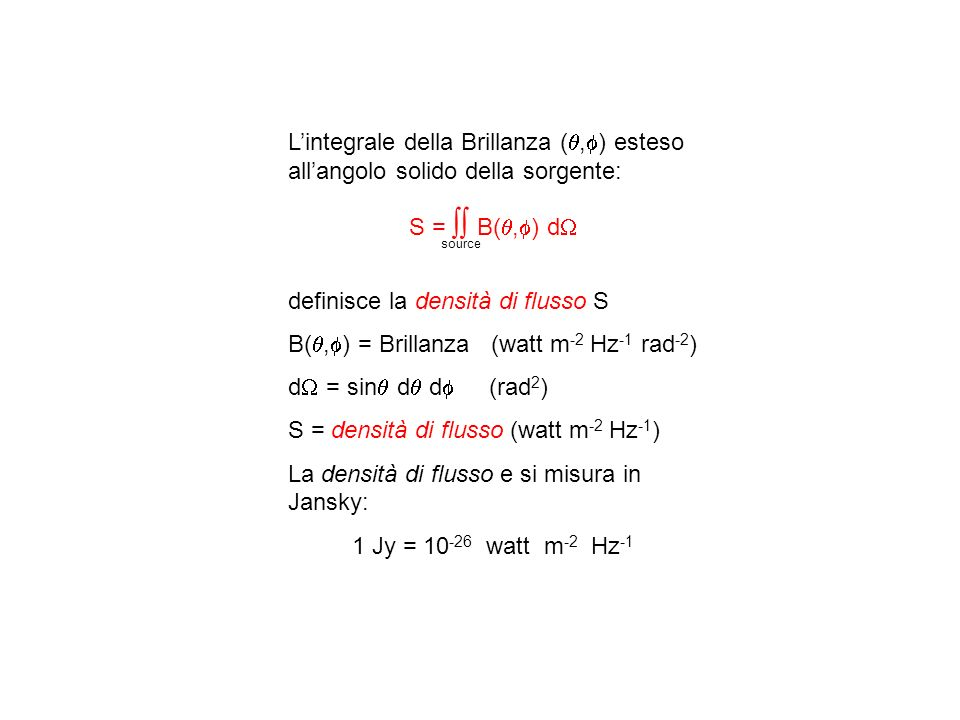 definisce la densità di flusso S
