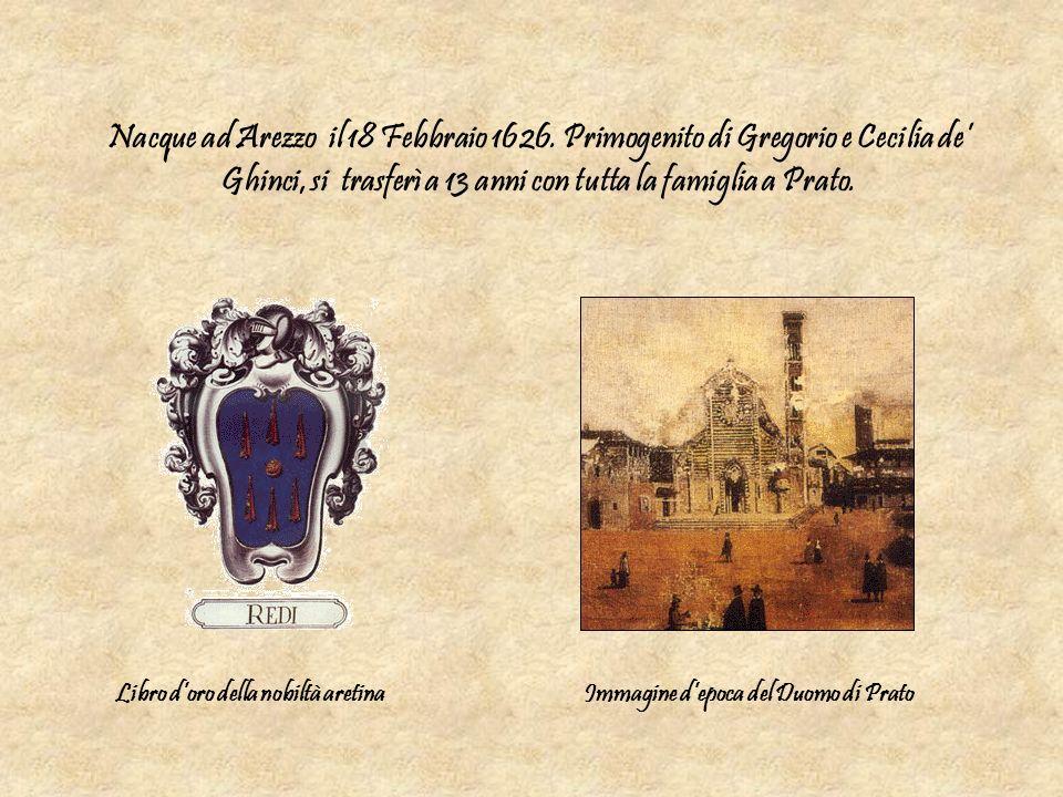 Nacque ad Arezzo il 18 Febbraio 1626