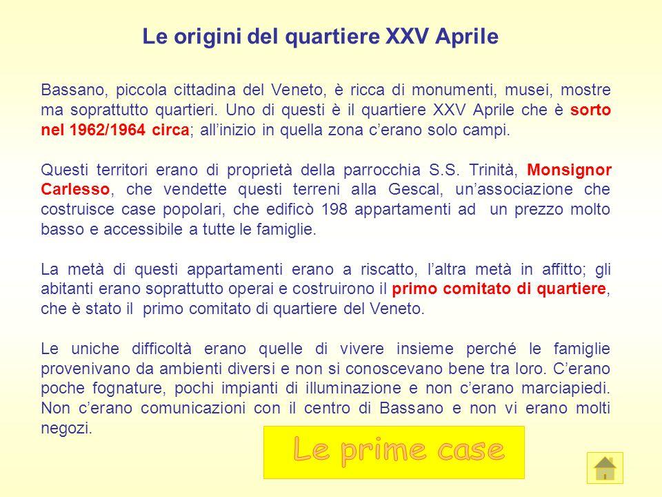 Le origini del quartiere XXV Aprile